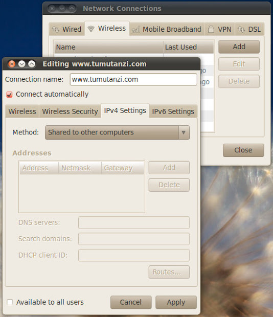 How to Make an Ubuntu Laptop as a WiFi Hotspot